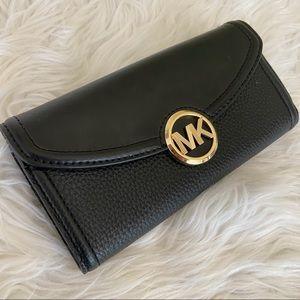 Michael Kors Fulton large black continental wallet